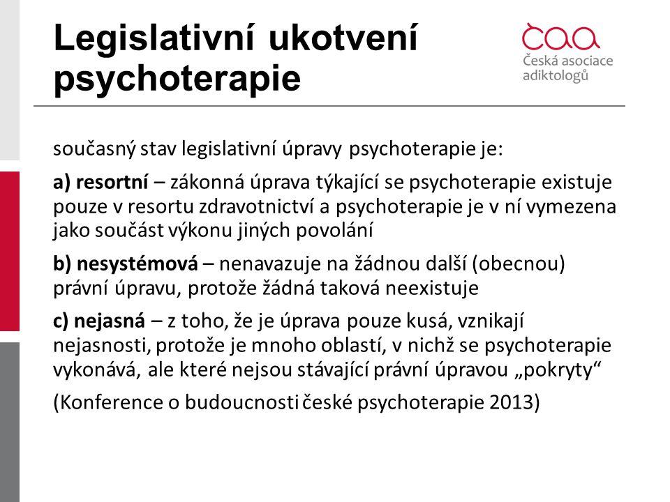 Legislativní ukotvení psychoterapie