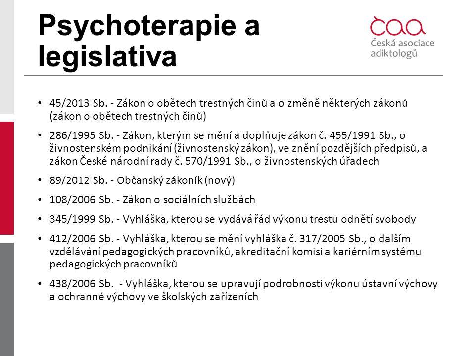 Psychoterapie a legislativa