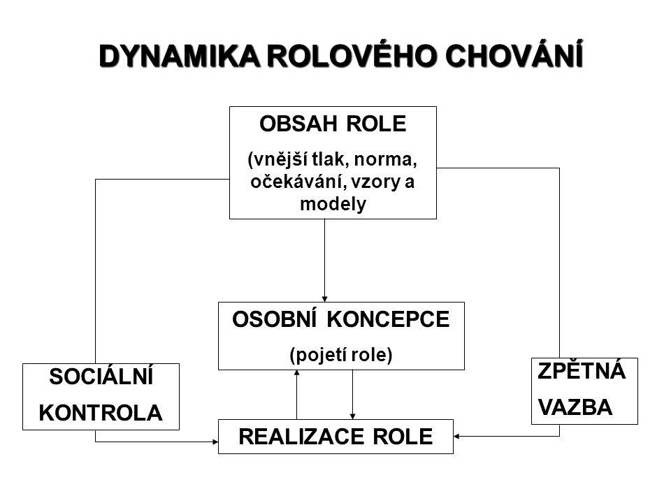 DYNAMIKA ROLOVÉHO CHOVÁNÍ