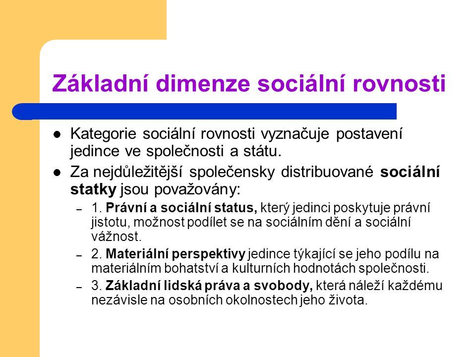 Základní dimenze sociální rovnosti