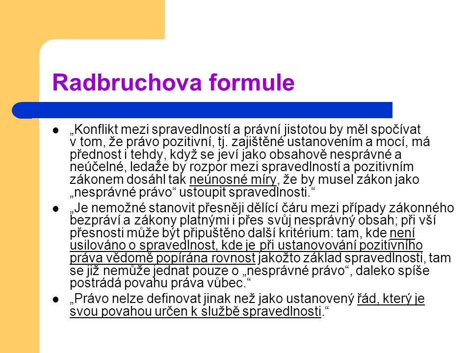 Radbruchova formule
