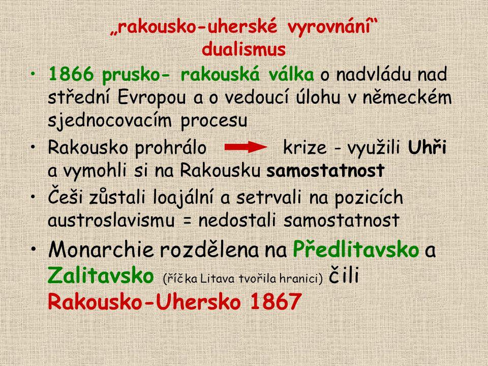 """""""rakousko-uherské vyrovnání dualismus"""