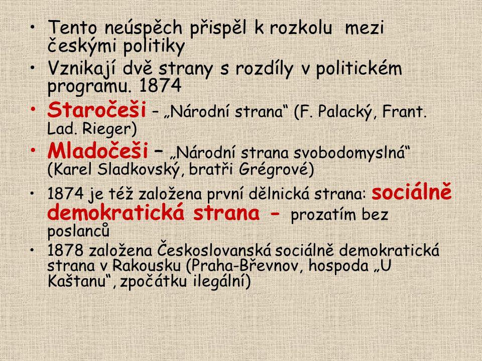 """Staročeši – """"Národní strana (F. Palacký, Frant. Lad. Rieger)"""