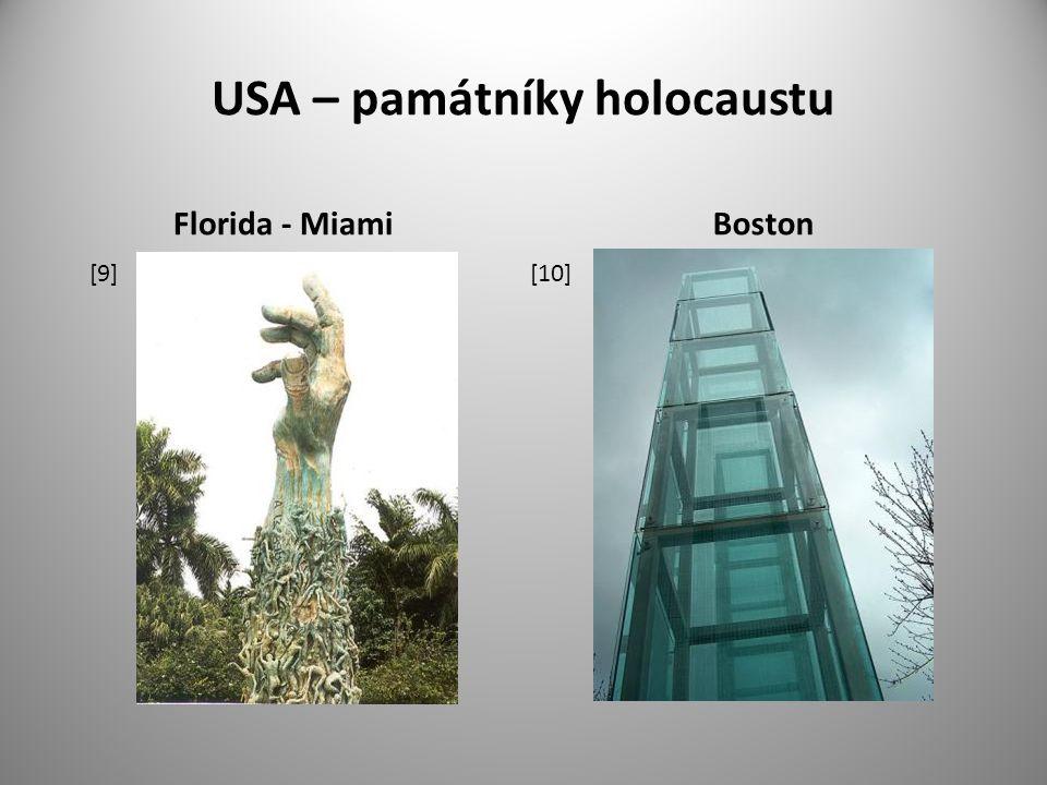 USA – památníky holocaustu