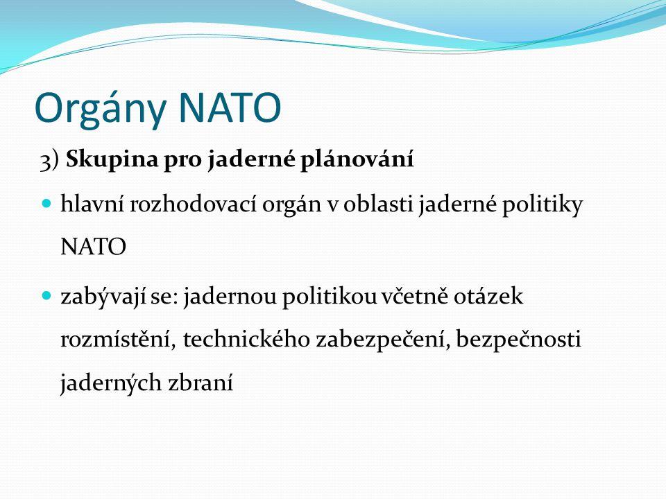 Orgány NATO 3) Skupina pro jaderné plánování