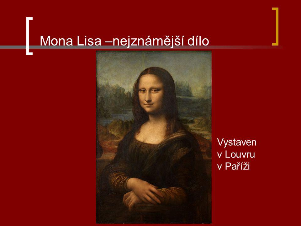 Mona Lisa –nejznámější dílo