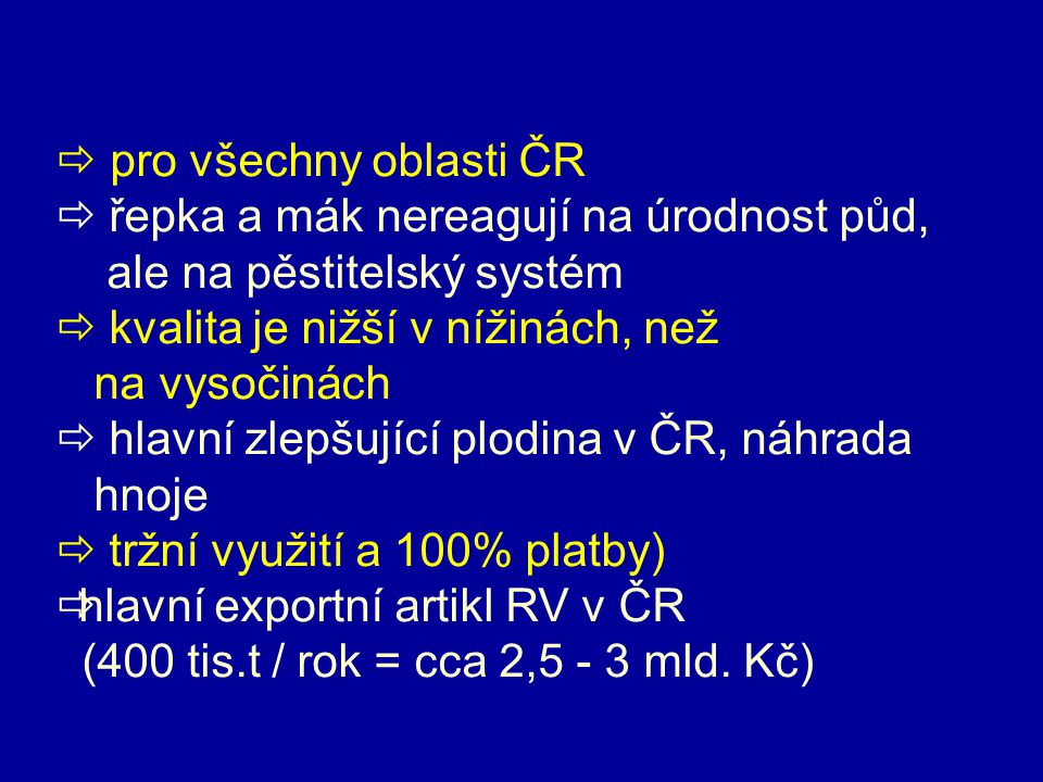  pro všechny oblasti ČR