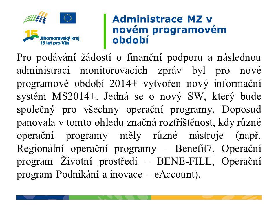 Administrace MZ v novém programovém období