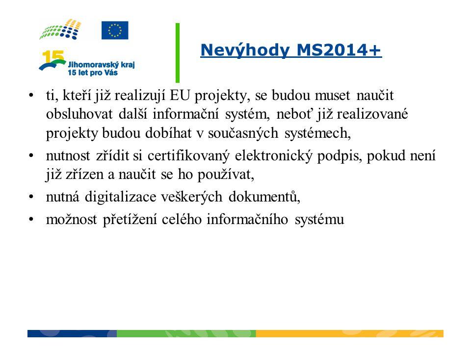 Nevýhody MS2014+
