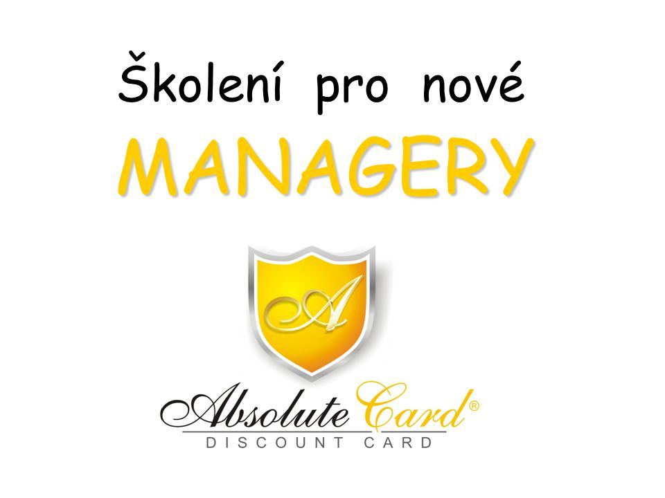 Školení pro nové MANAGERY