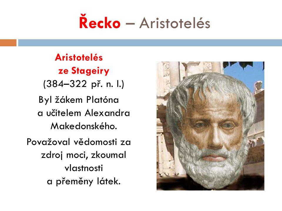 Řecko – Aristotelés