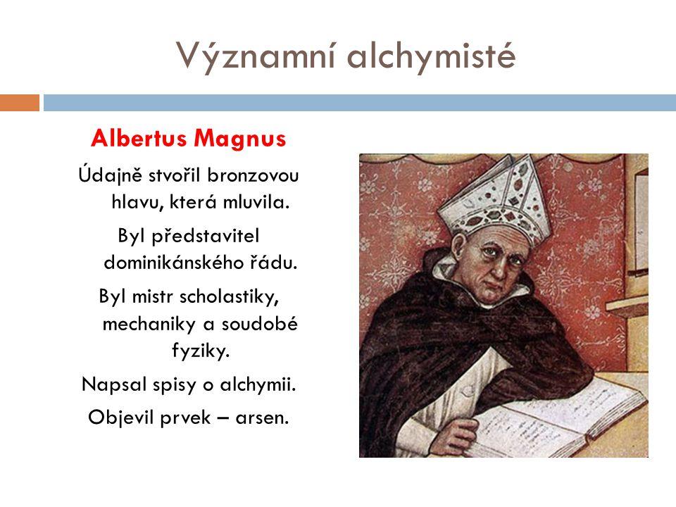 Významní alchymisté Albertus Magnus