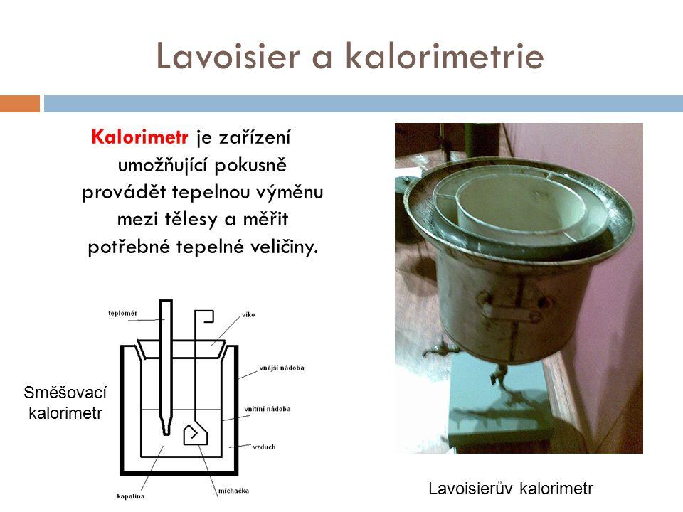 Lavoisier a kalorimetrie