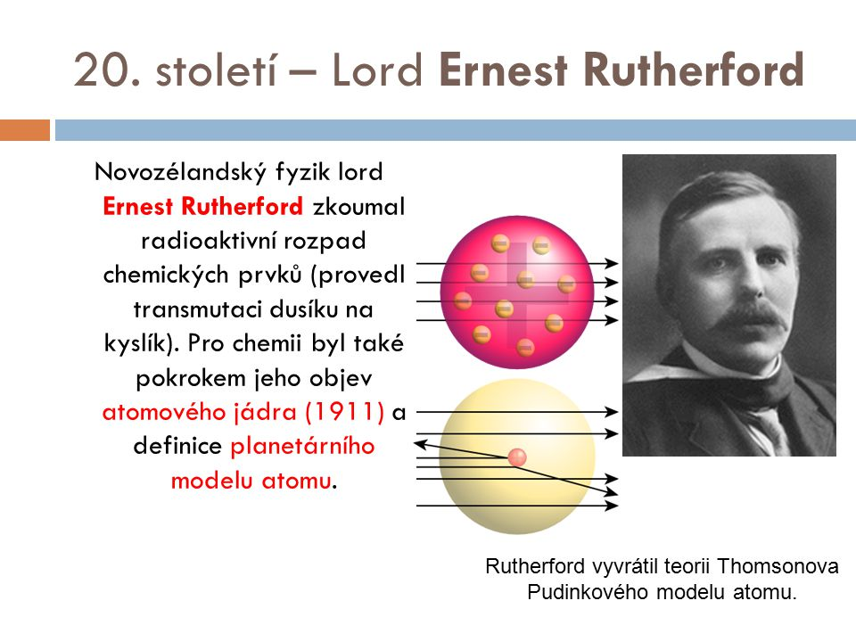 20. století – Lord Ernest Rutherford