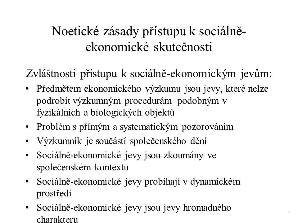 Noetické zásady přístupu k sociálně-ekonomické skutečnosti