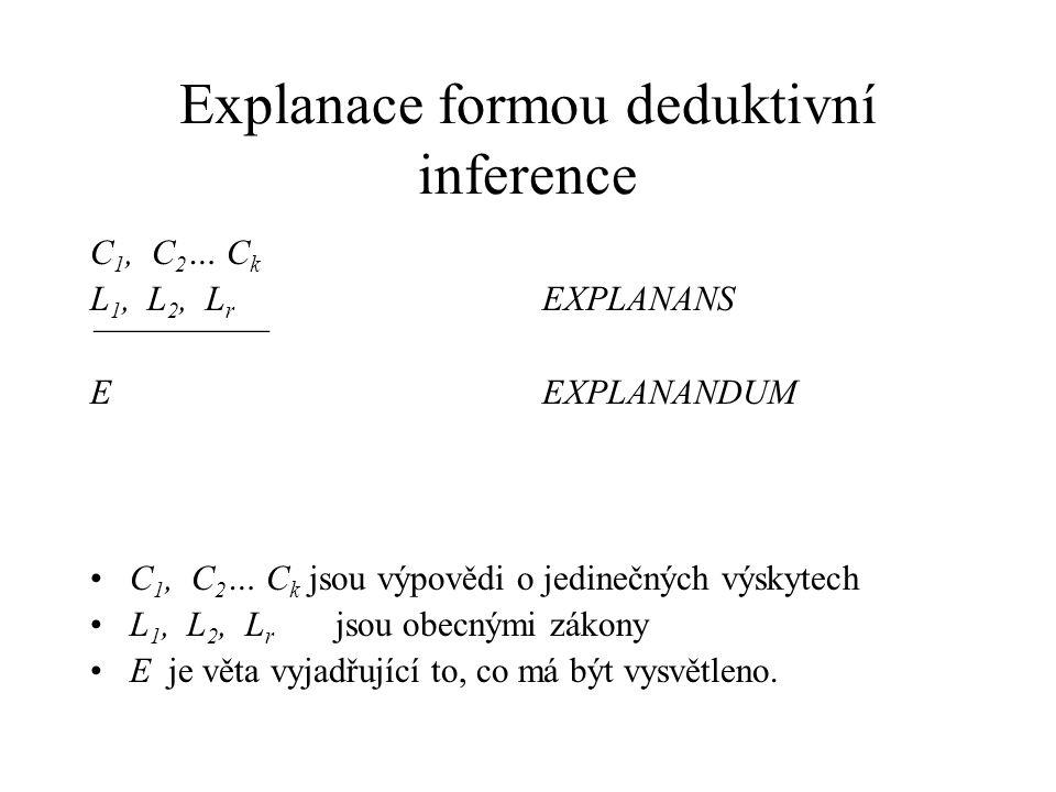Explanace formou deduktivní inference