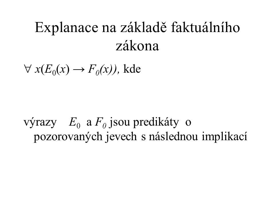 Explanace na základě faktuálního zákona