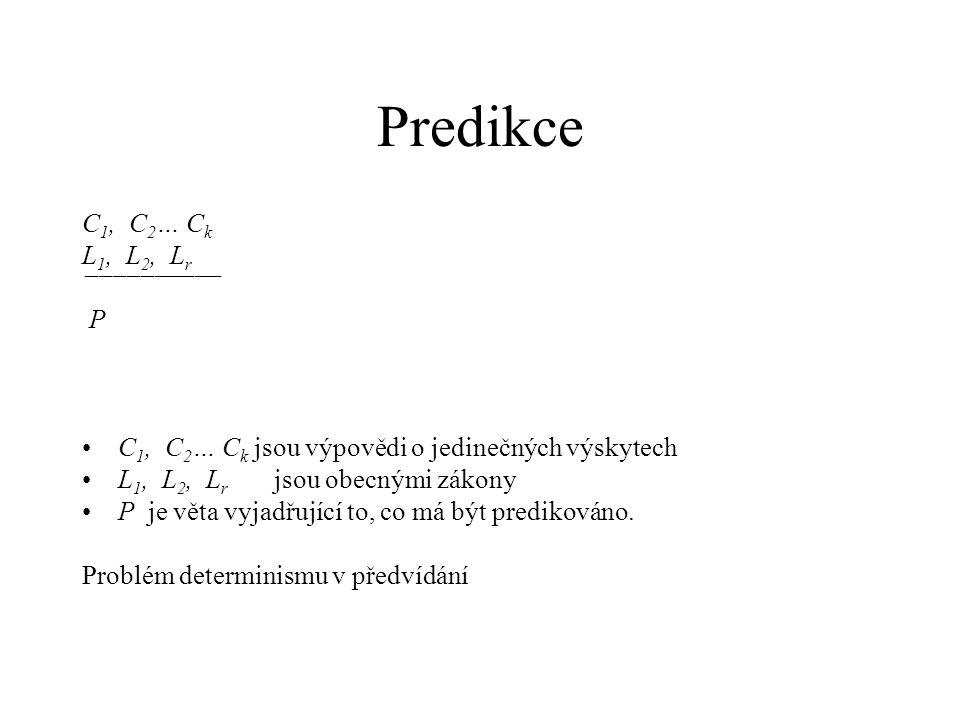 Predikce C1, C2… Ck L1, L2, Lr ¯¯¯¯¯¯¯¯¯¯ P