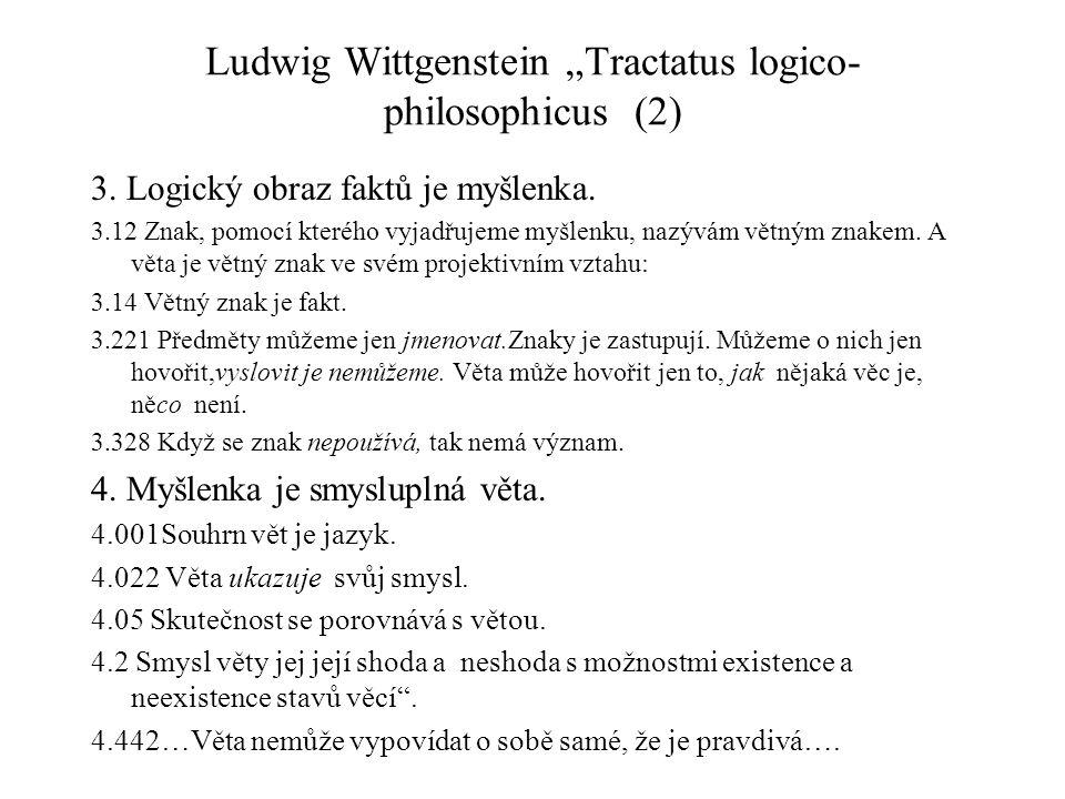 """Ludwig Wittgenstein """"Tractatus logico-philosophicus (2)"""
