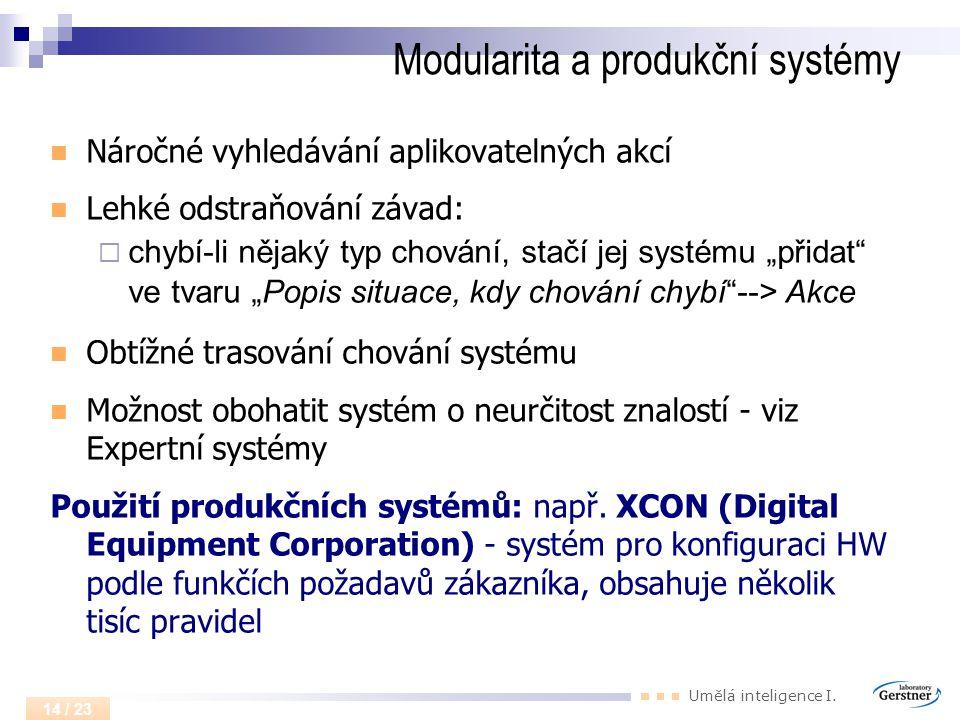 Modularita a produkční systémy