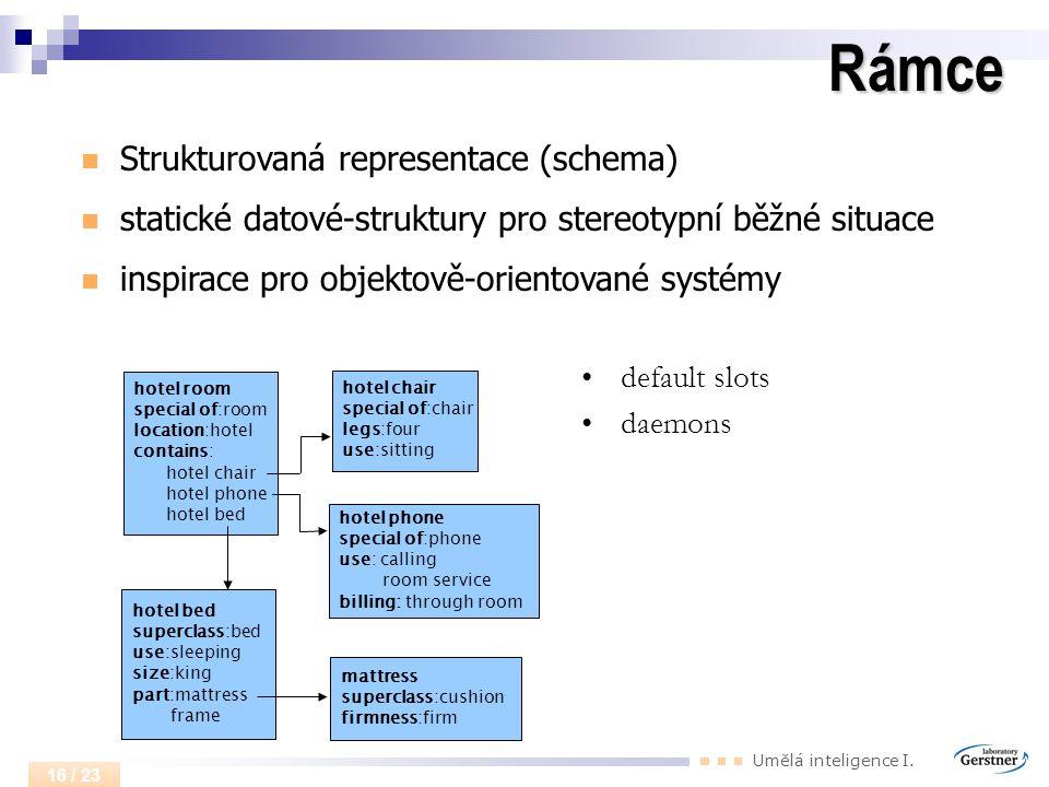 Rámce Strukturovaná representace (schema)