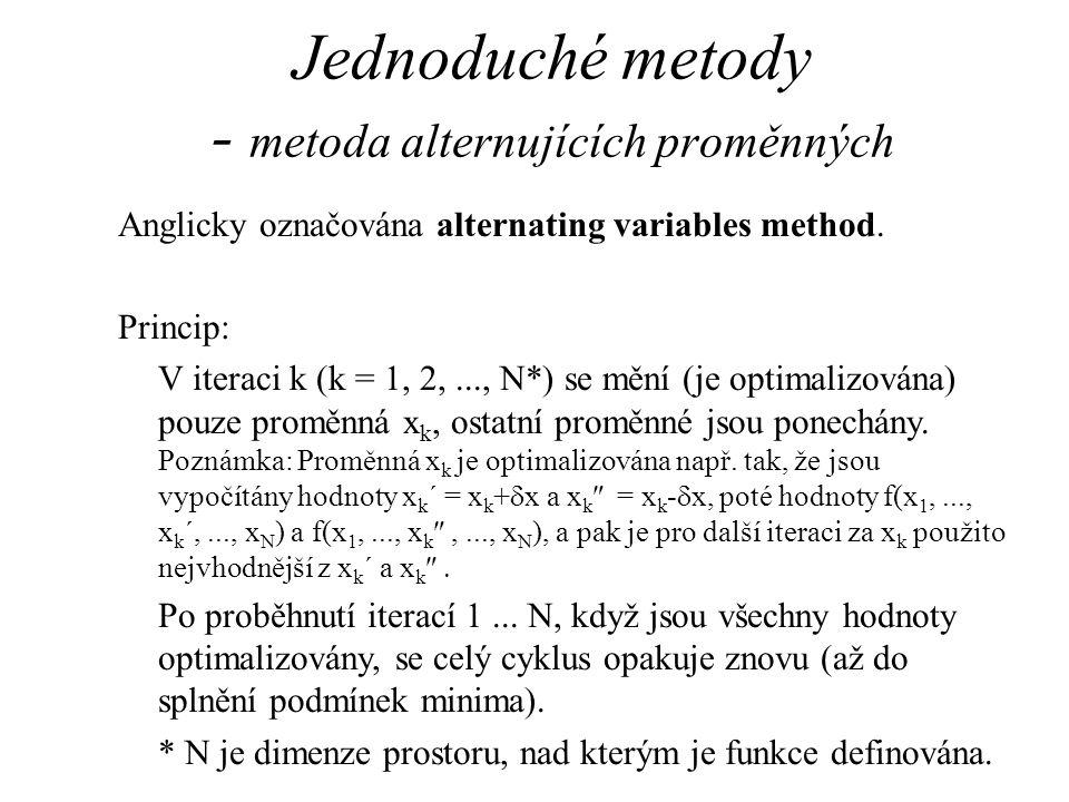 Jednoduché metody - metoda alternujících proměnných