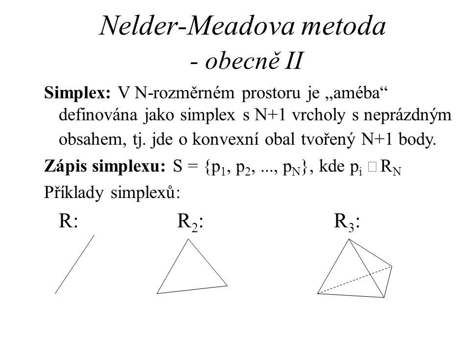 Nelder-Meadova metoda - obecně II