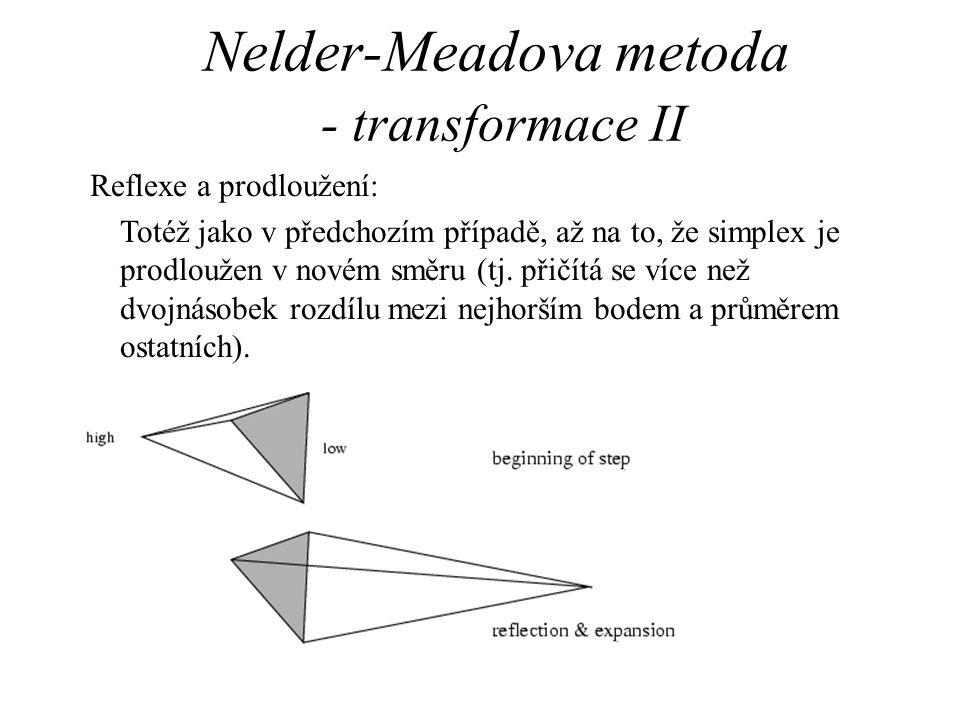 Nelder-Meadova metoda - transformace II