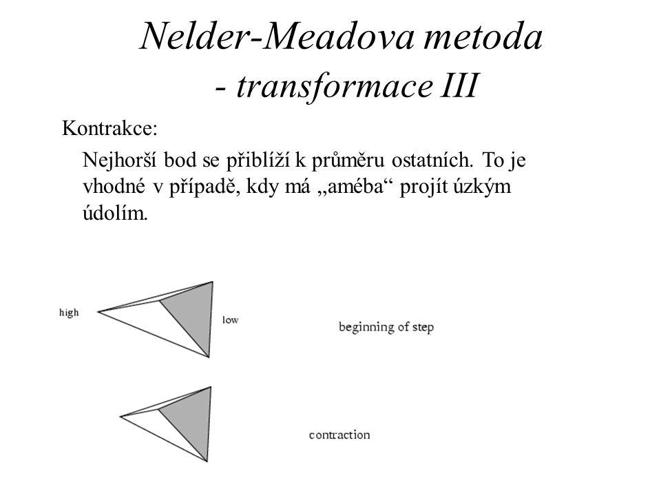 Nelder-Meadova metoda - transformace III