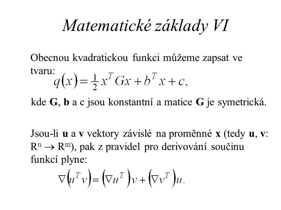 Matematické základy VI