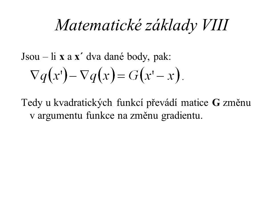 Matematické základy VIII