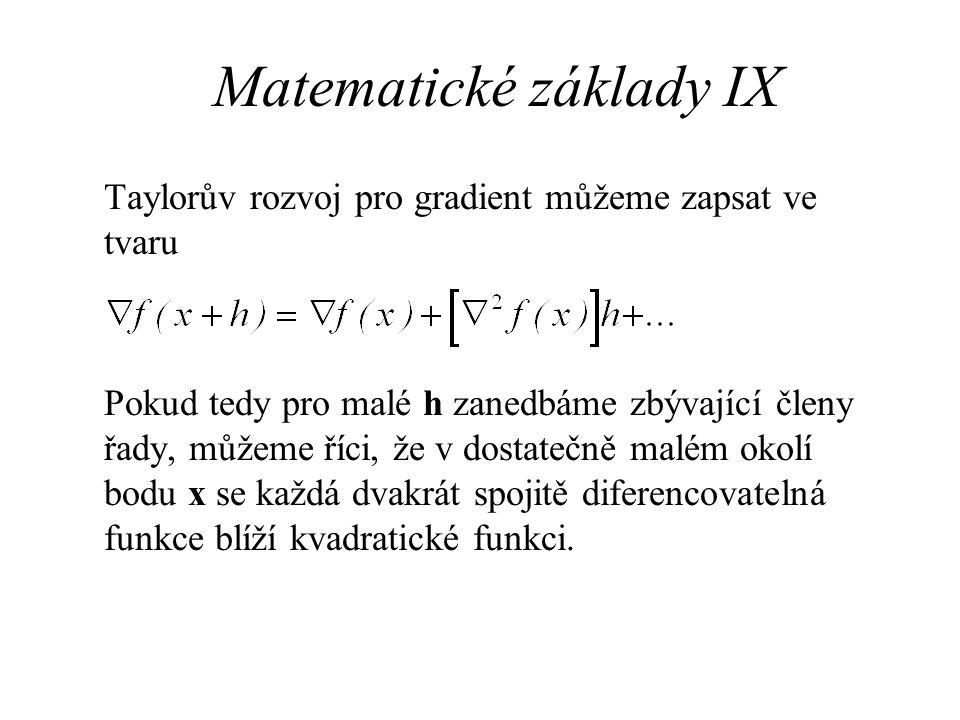 Matematické základy IX