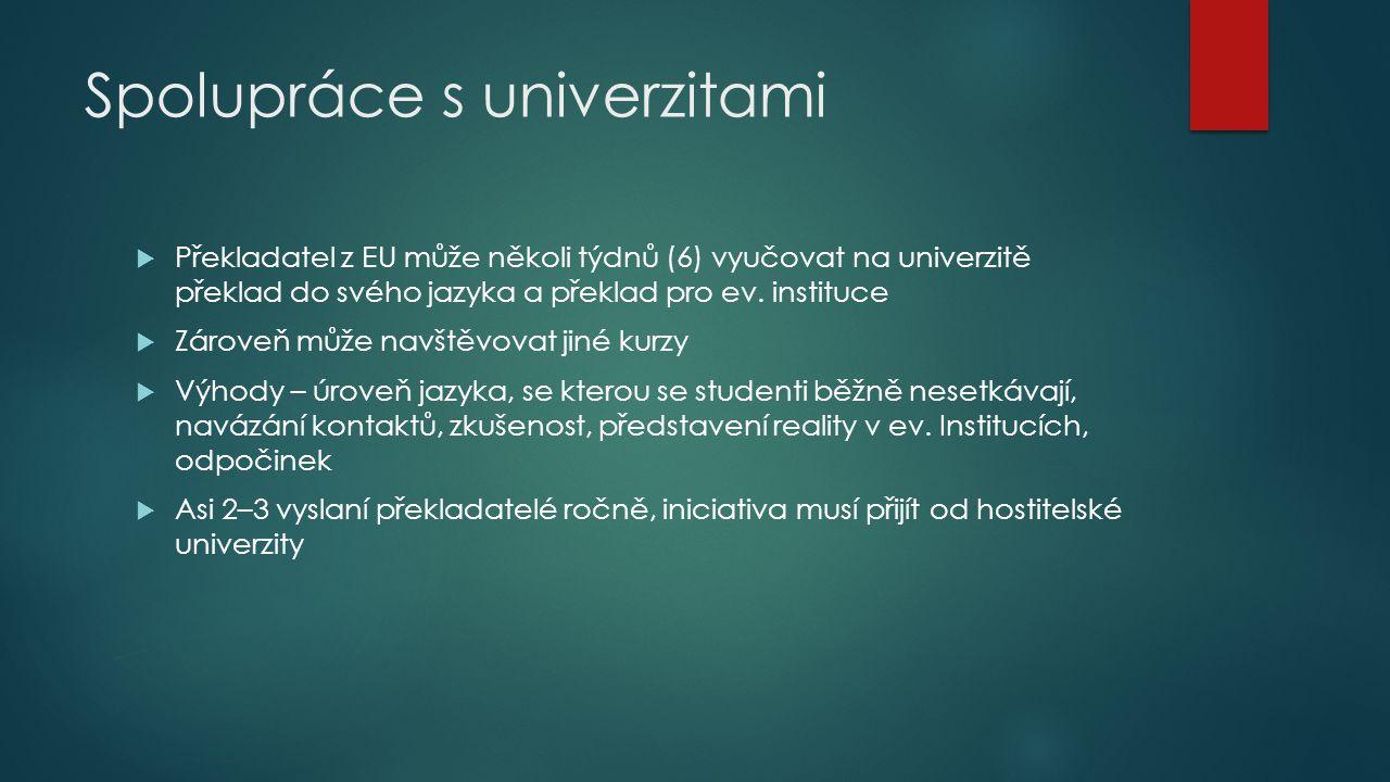 Spolupráce s univerzitami