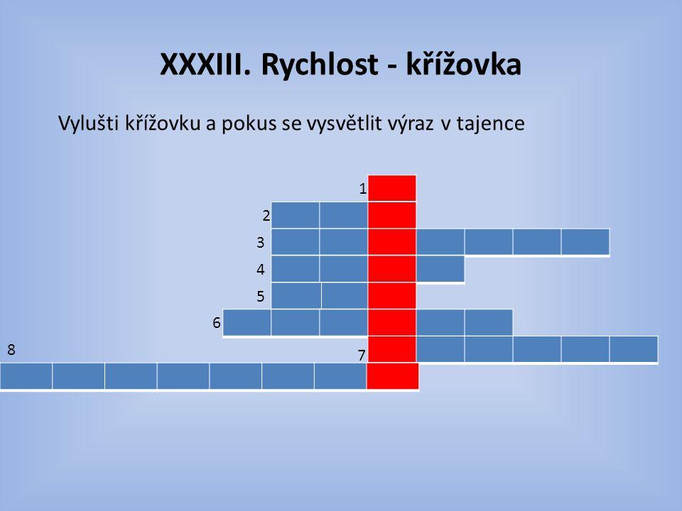 XXXIII. Rychlost - křížovka