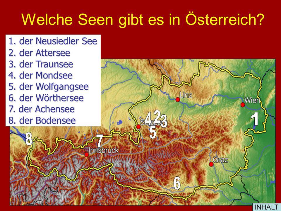 Welche Seen gibt es in Österreich