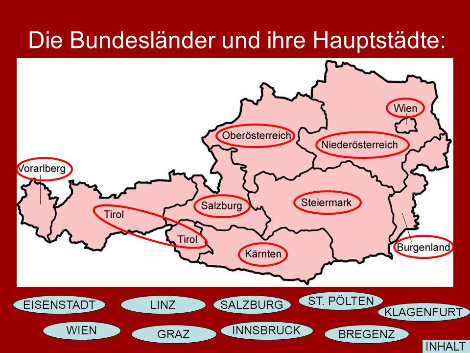 Die Bundesländer und ihre Hauptstädte: