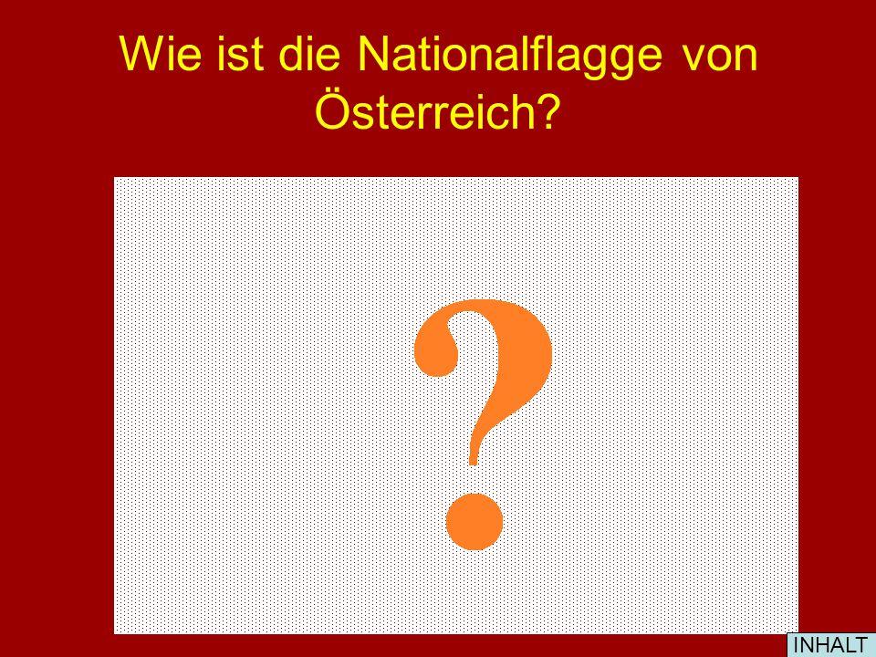Wie ist die Nationalflagge von Österreich