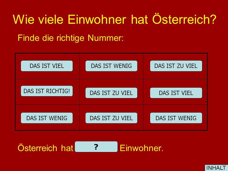 Wie viele Einwohner hat Österreich