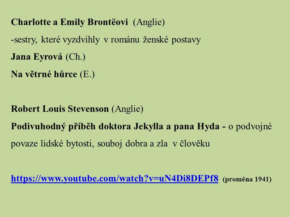 Charlotte a Emily Brontëovi (Anglie)