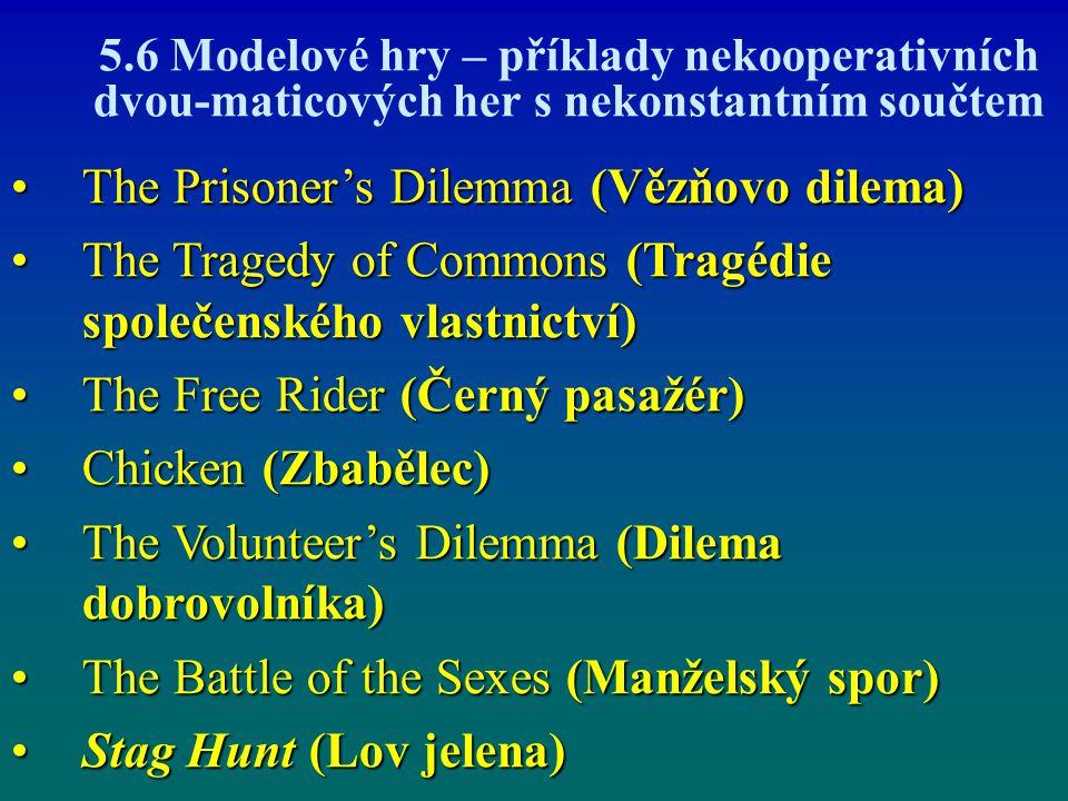 The Prisoner's Dilemma (Vězňovo dilema)