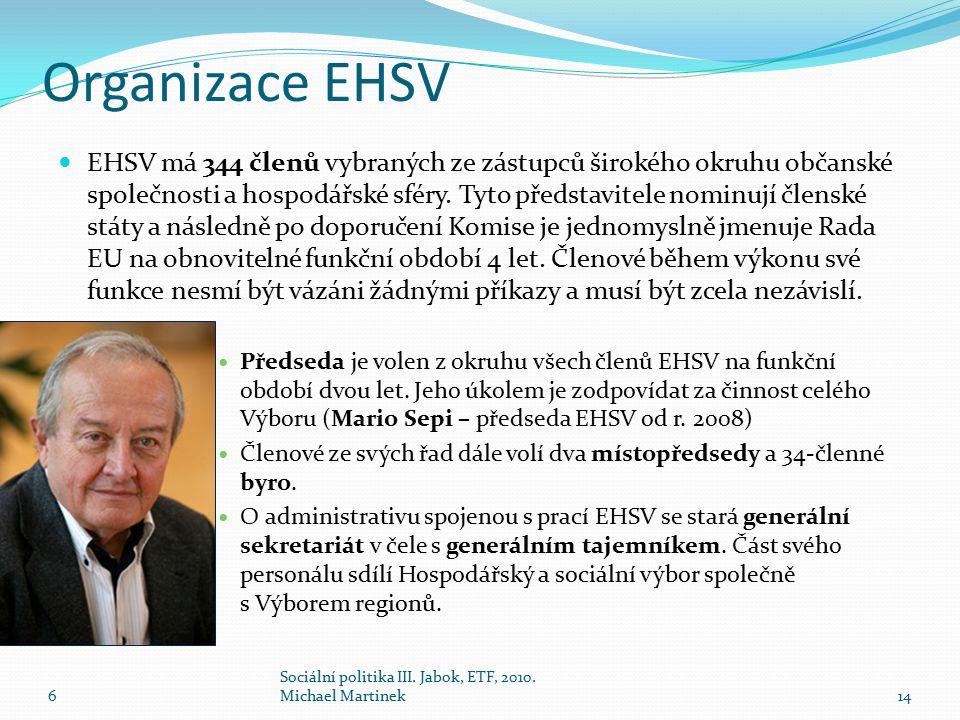 Organizace EHSV