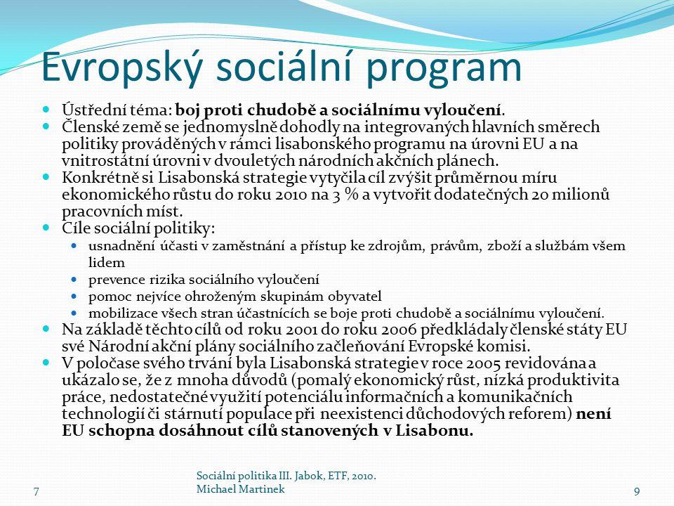 Evropský sociální program