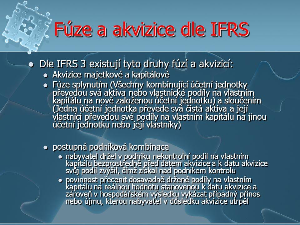 Fúze a akvizice dle IFRS