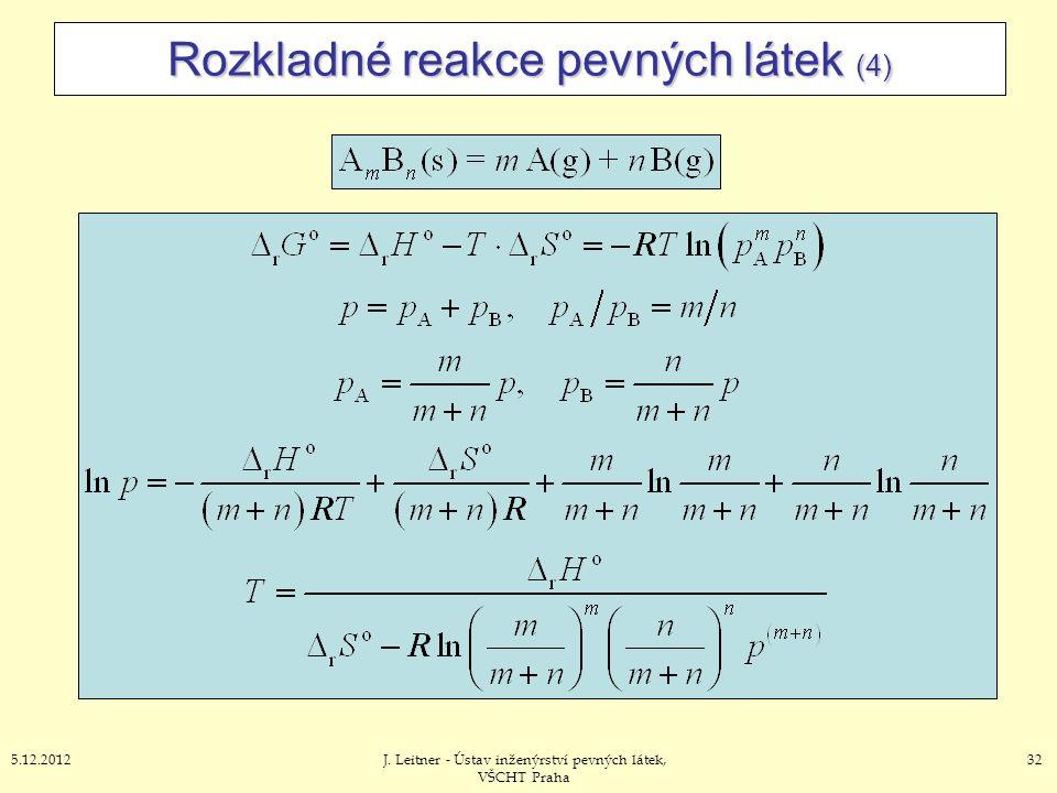 Rozkladné reakce pevných látek (4)