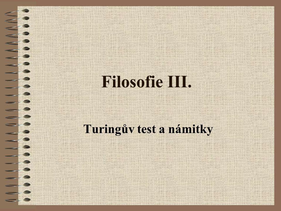 Turingův test a námitky