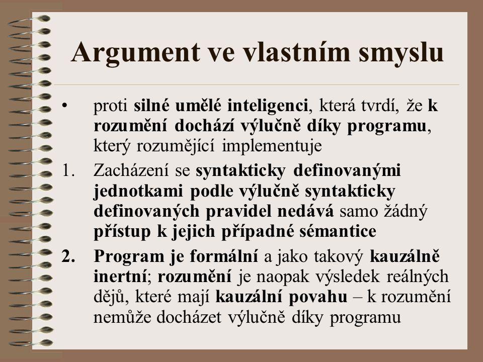 Argument ve vlastním smyslu