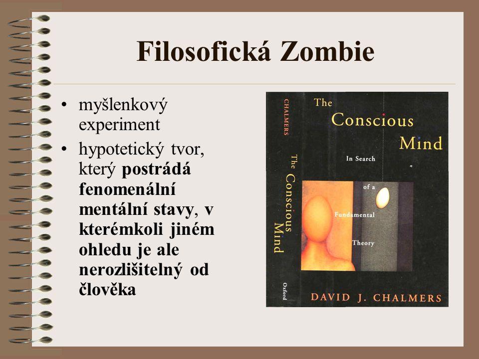 Filosofická Zombie myšlenkový experiment