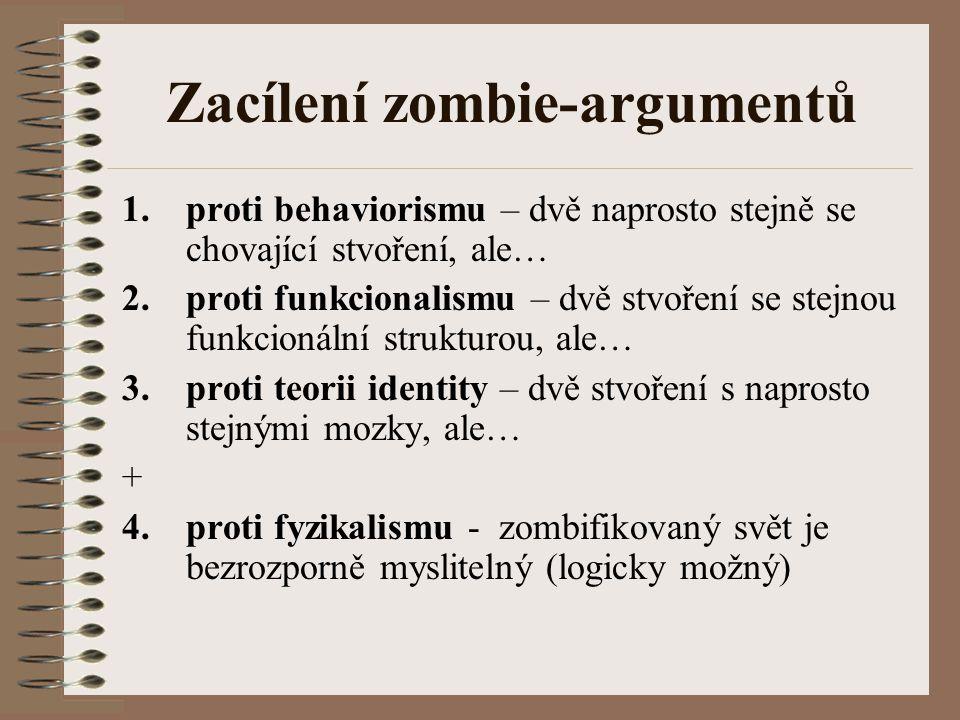 Zacílení zombie-argumentů