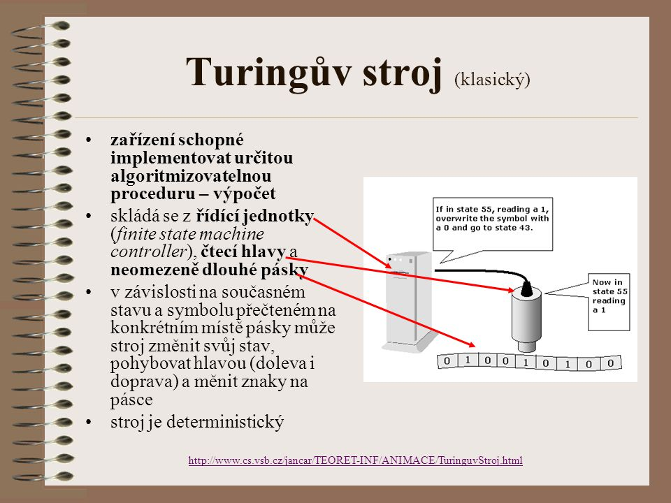 Turingův stroj (klasický)
