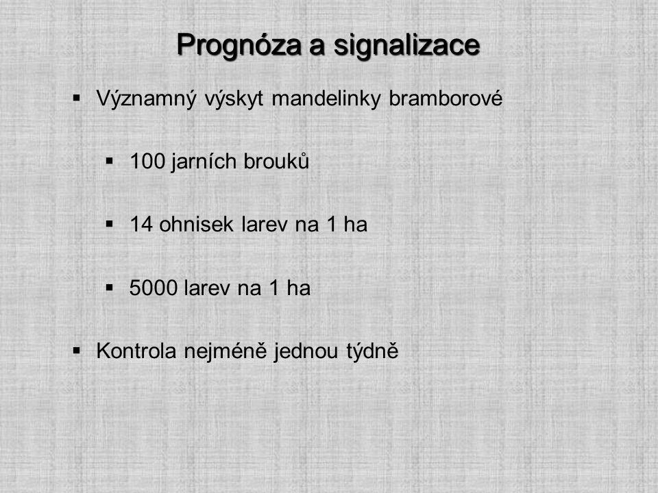 Prognóza a signalizace